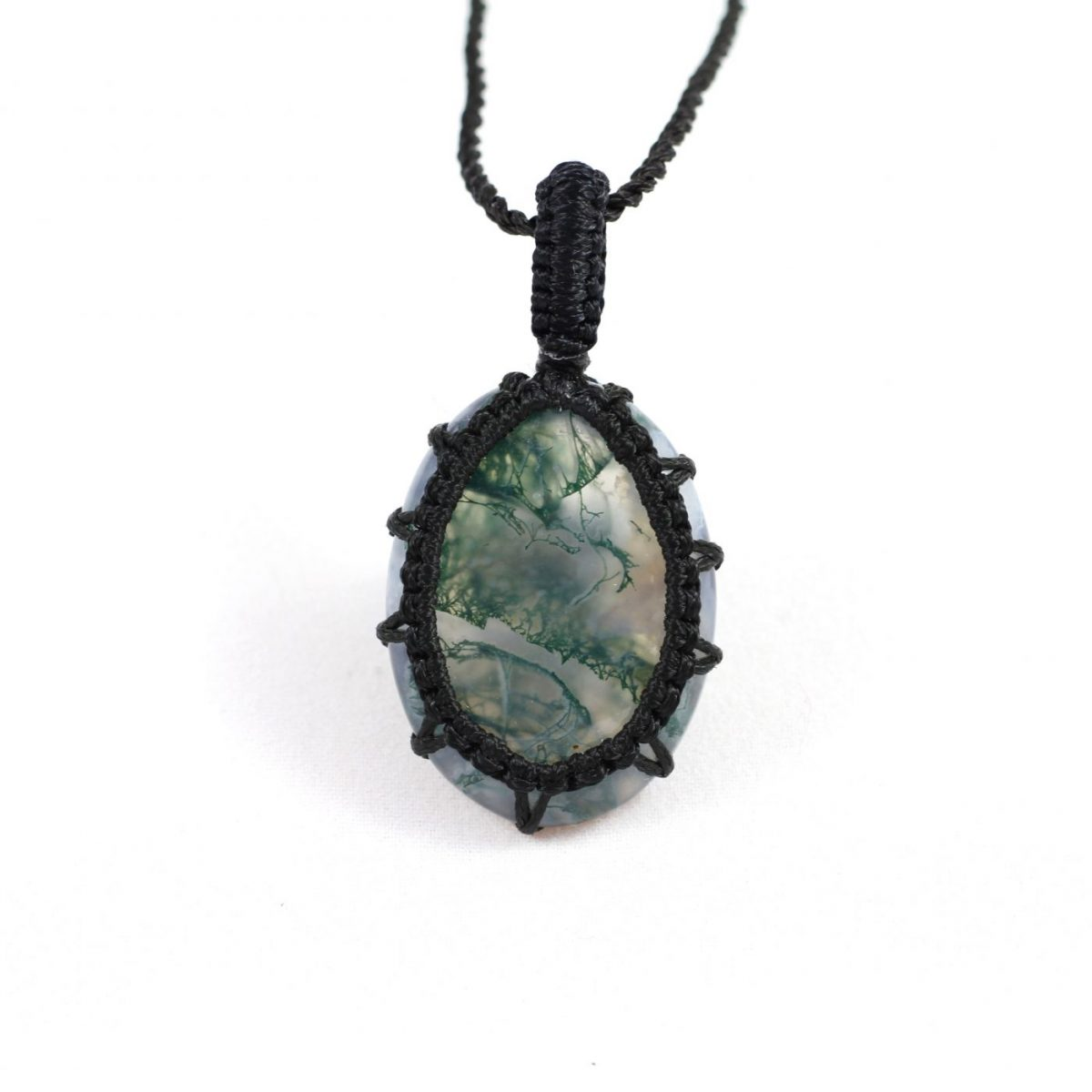 pin silver sterling edwardian moss agate necklace antique victorian